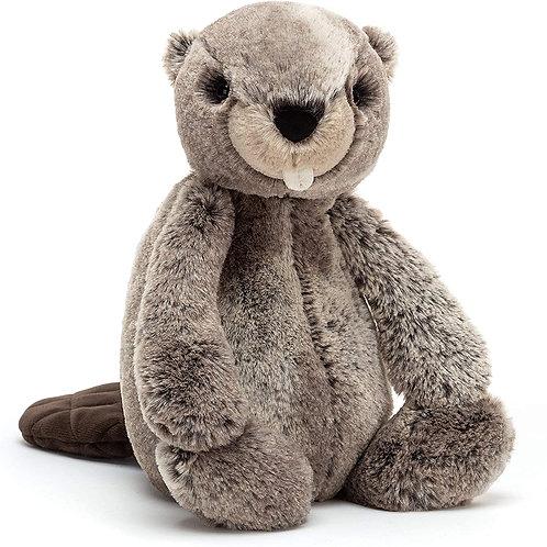 Jellycat Bashful Beaver Stuffed Animal, Medium