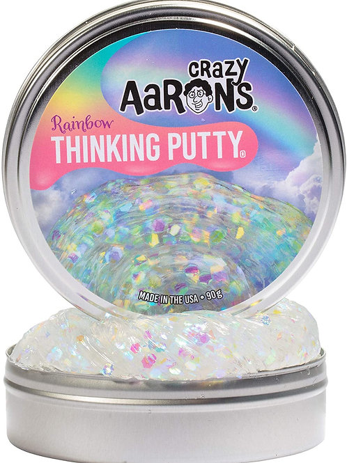 Crazy Aaron's Rainbow Thinking Putty - Multicolored Glittering 2021 Trendsetter