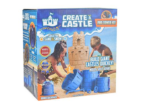 Sand or Snow Castle Split Mold Set - 6 Piece Pro Building Set