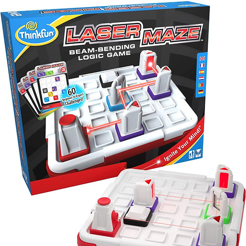 Think Fun Laser Maze (Class 1) Brain Game and STEM Toy for Boys and Girls Age 8
