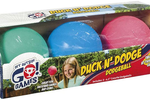Toysmith Mini Dodge Ball Set Game Set of 3 Kickball for Younger Kids Assorted C