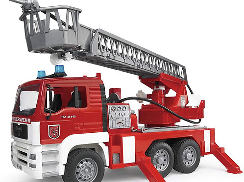 Roll over image to zoom in Bruder Toys - Emergency Realistic MAN Fire Engine wi