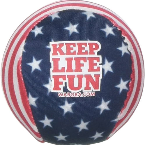 Waboba Water Bouncing Pro Ball-Stars & Stripes, White/Red/Blue