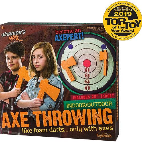 Toysmith Warrior's Mark Indoor/Outdoor Foam Axe Throwing Game - Winner Creative