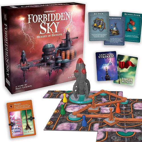 Gamewright Forbidden Sky – The Cooperative Strategy Survival Rocket Building Boa