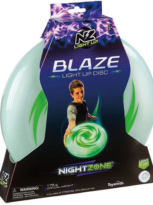 NightZone Horizon Light Up Disc by Toysmith - Flying Disk Toy with LED Lights f
