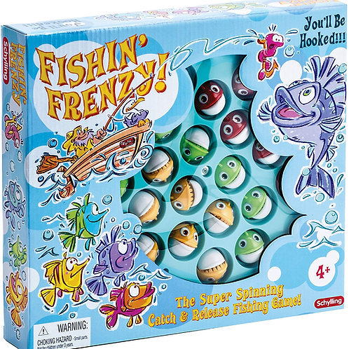 Schylling Fishing Frenzy Action Game Blue, Large