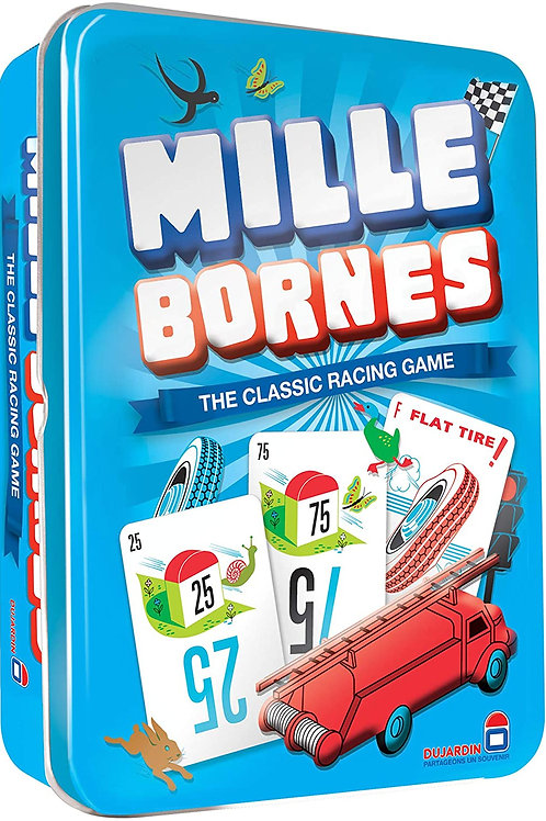 Mille Bornes Card Game in Colorful Tin