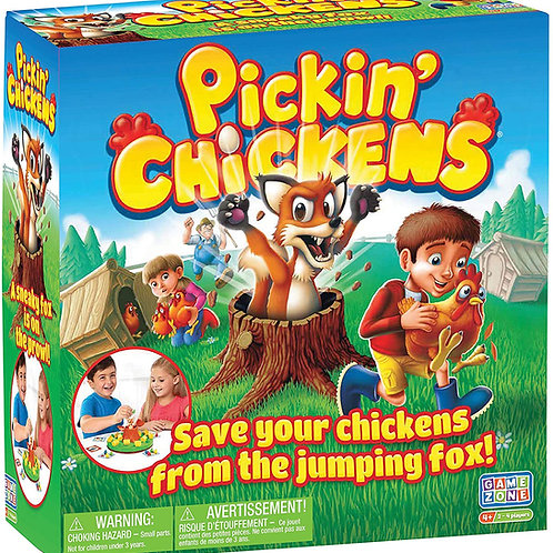 GAME Zone Pickin' Chickens Tabletop Action Multiplayer for up to 4 Children Ages