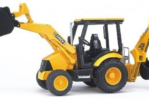 Bruder Toys - Construction Realistic JCB MIDI CX Backhoe Loader with Changeable