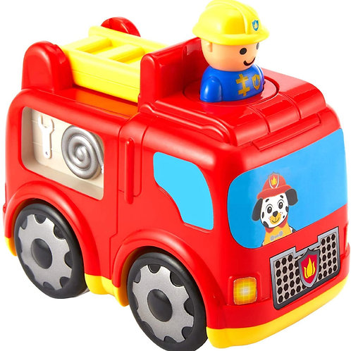 Kidoozie Press 'n Zoom Fire Engine - Developmental Activity Toy for Toddlers Age