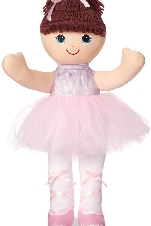 """Kidoozie 20"""" Love 'n Hug Ballerina Doll, Rag Doll Toy for Children Ages 3 and Ol"""