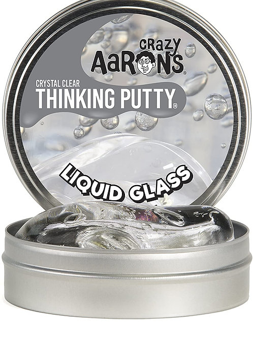 Crazy Aaron's Thinking Putty 4 Inch Tin (3.2 oz) - See-Through Putty, Soft Textu