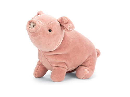 Roll over image to zoom in Jellycat Bashful Pig Stuffed Animal, Small