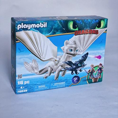 Light Fury and Baby Dragon Playmobil