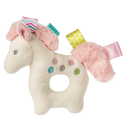 Taggies Embroidered Soft Ring Rattle, Painted Pony, 6-Inches