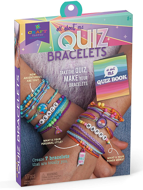 Craft-tastic – All About Me Quiz Bracelets – Craft Kit – Take Fun Personality Qu