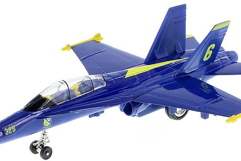 """Playmaker Toys 9"""" X-Planes US Navy F-18 Hornet Blue Jet Toy with Pull Back Actio"""