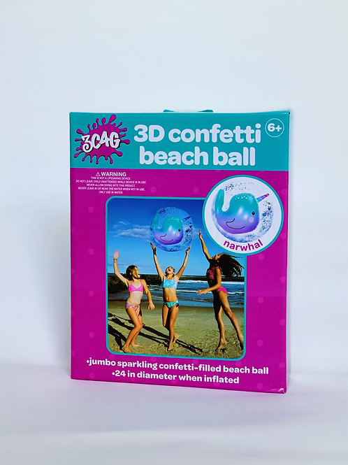 3D Confetti Beach Ball