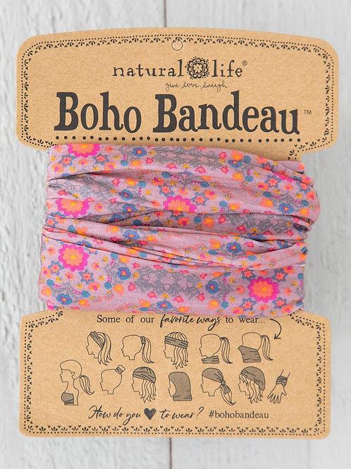 PINK FLOWER STAMP BOHO BANDEAU®