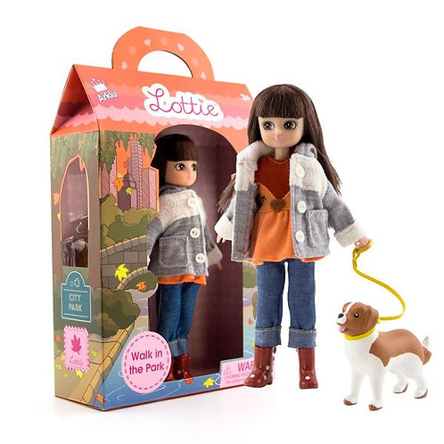 Lottie Doll Walk in The Park | A Doll for Girls & Boys with Doll Dog | Fashion D