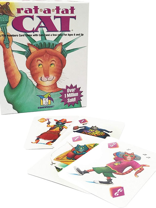 "Gamewright Rat-A-Tat-Cat Multi-colored, 5"""