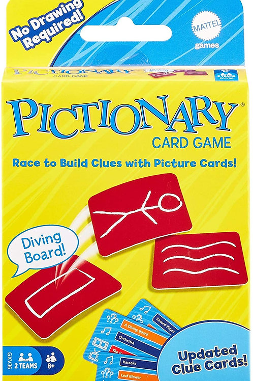 Mattel Games Pictionary Card Game, Makes A Great Gift for Kid, Family Or Adult G
