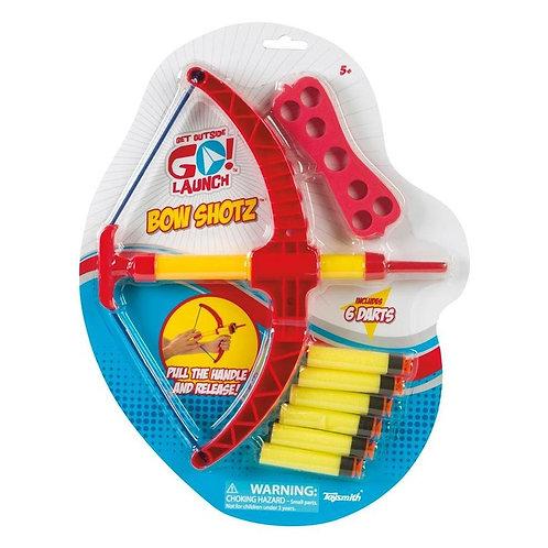 Toysmith Bow Shotz Foam Darts and Bow Set, Get Outside GO!, 6 Darts, Bow, Target