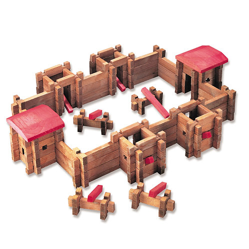 Roy Toy - Classic Fort PRoy Toy - Classic Fort Playset 140 pc Slayset 140 pc Set