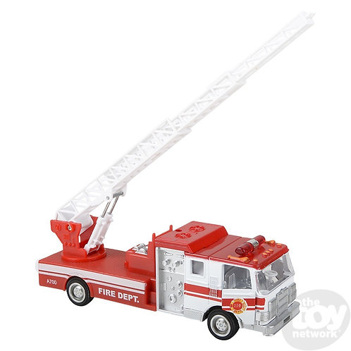 """7"""" Die-Cast Pull Back Sonic Fire Engine"""