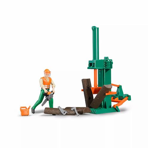 Bruder 62650 Bworld Log Splitter Set w/ Figure