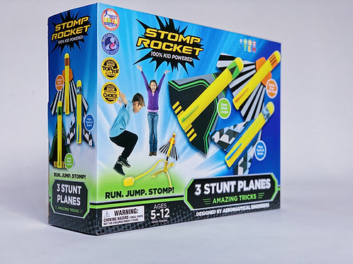 Stomp Rocket - 3 Stunt Planes
