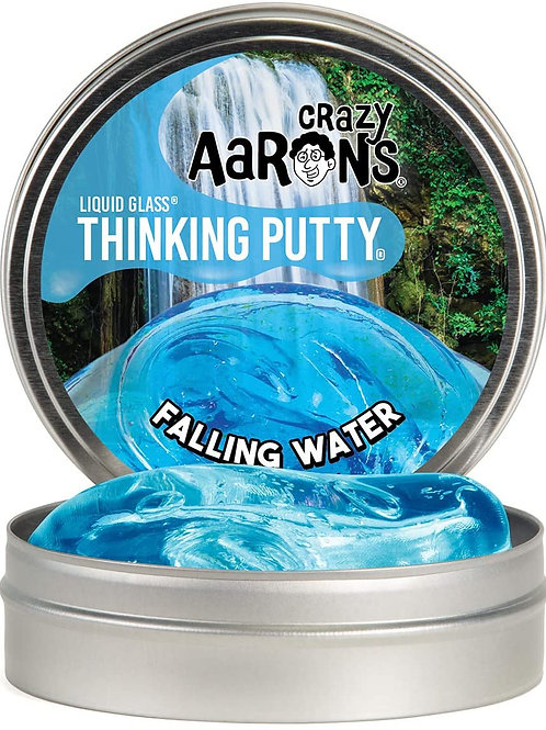 """Crazy Aaron's Transparent Thinking Putty - 4"""" Falling Water Liquid Glass See Thr"""