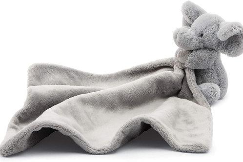 Jellycat Bashful Grey Elephant Soother Baby Stuffed Animal Security Blanket