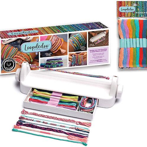 Loopdedoo Friendship Bracelet Maker Bundle – Includes 1 Bracelet Maker & 1 Pack