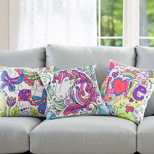 Color Pops Color-Your-Own Pillow Kit - Butterfly