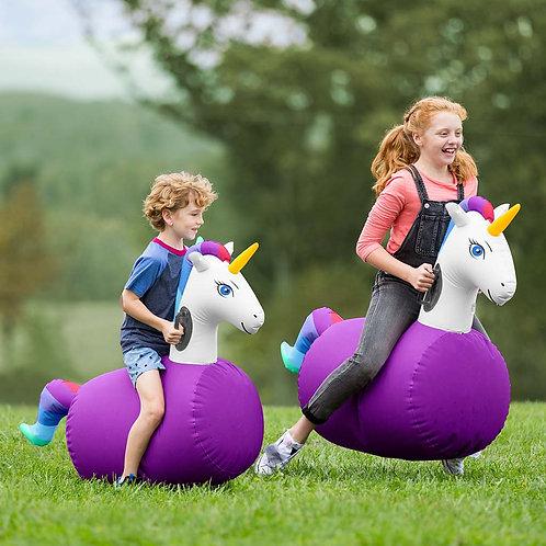 Inflatable Ride-On Hop 'n Go Unicorns, Set of 2