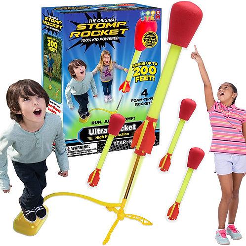 The Original Stomp Rocket Ultra Rocket Launcher, 4 Rockets and Toy Air Rocket L