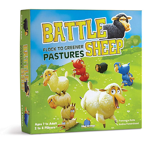 Battle Sheep Game, 2,3 or 4 Players Strategy Game High replay value; build a uni