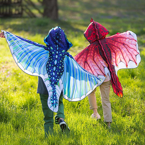 Fabric Dragon Wings Red or Blue