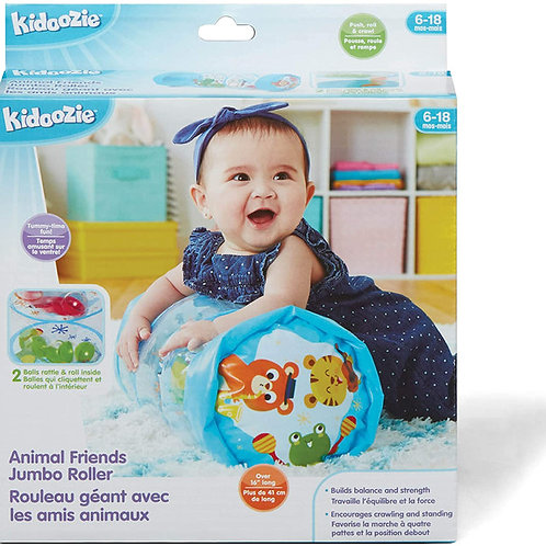 Kidoozie Animal Friends Jumbo Roller - Tummy Time Toy for Infants and Toddlers