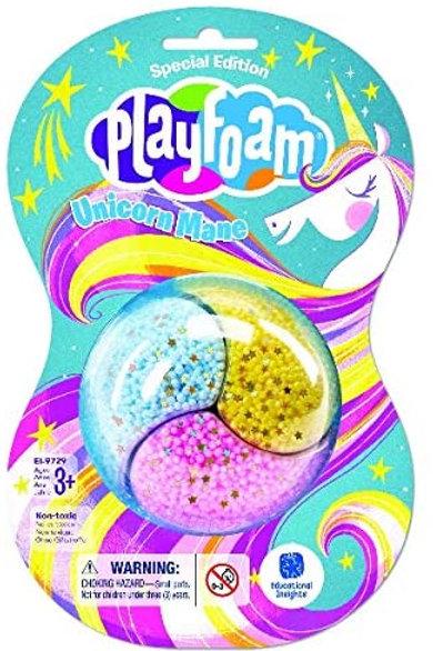 Educational Insights Playfoam Limited Edition Unicorn Mane Jumbo Pod Party Pack,