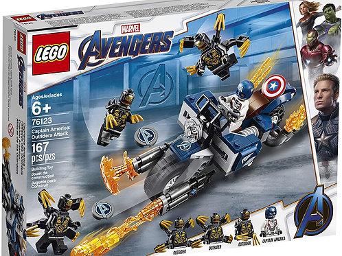 LEGO Marvel Avengers Captain America: Outriders Attack 76123 Building Kit