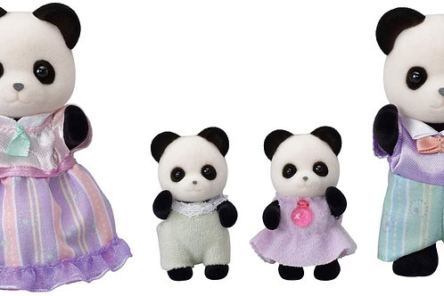 Calico Critters Pookie Panda Family, Dolls, Dollhouse Figures, Collectible Toys
