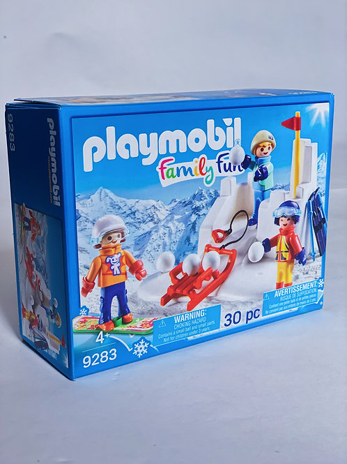 Snowball Fight Playmobil Family Fun