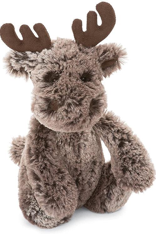 Jellycat Bashful Marty Moose Stuffed Animal, Small, 7 inches
