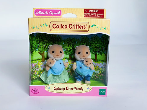Calico Critters Spalshy Otter Family