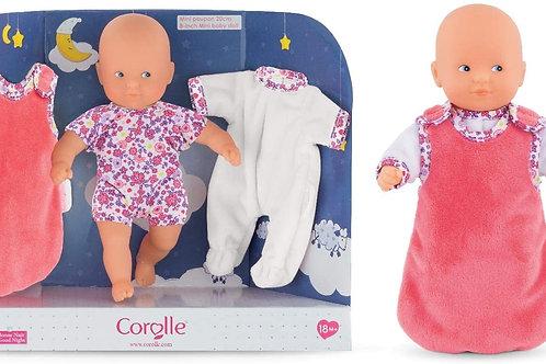 "Corolle - Mini Calin Good Night - 8"" Soft Body Baby Doll"