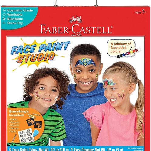 Faber-Castell Face Paint Studio Kit - Face Painting Kit for Kids - Non-Toxic Fa