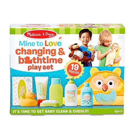 Melissa & Doug Mine to Love Changing & Bathtime Play Set for Dolls
